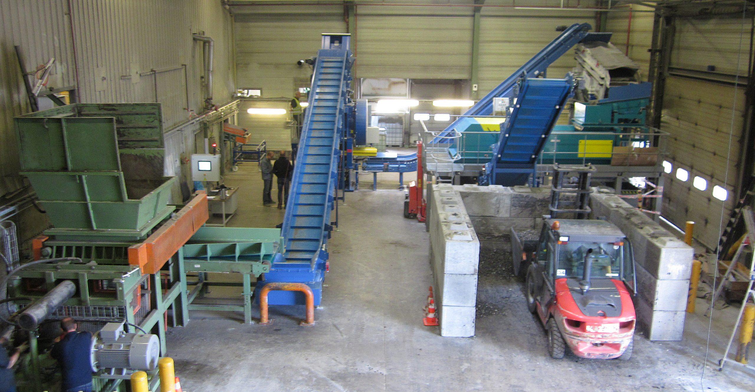 Recyclage machine Derbigum