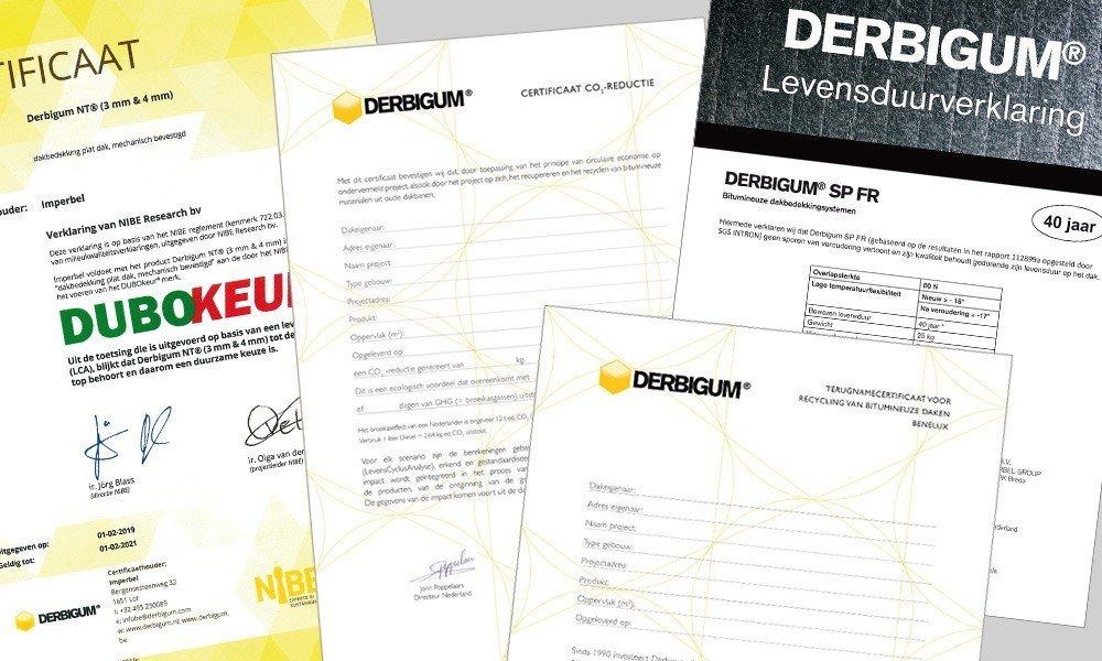 Teschnische documenten Derbigum Nederland
